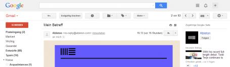 GMail Ansicht einer DKIM signierten E-Mail