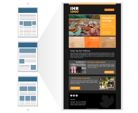 gratis newsletter templates und vorlagen newsletter2go