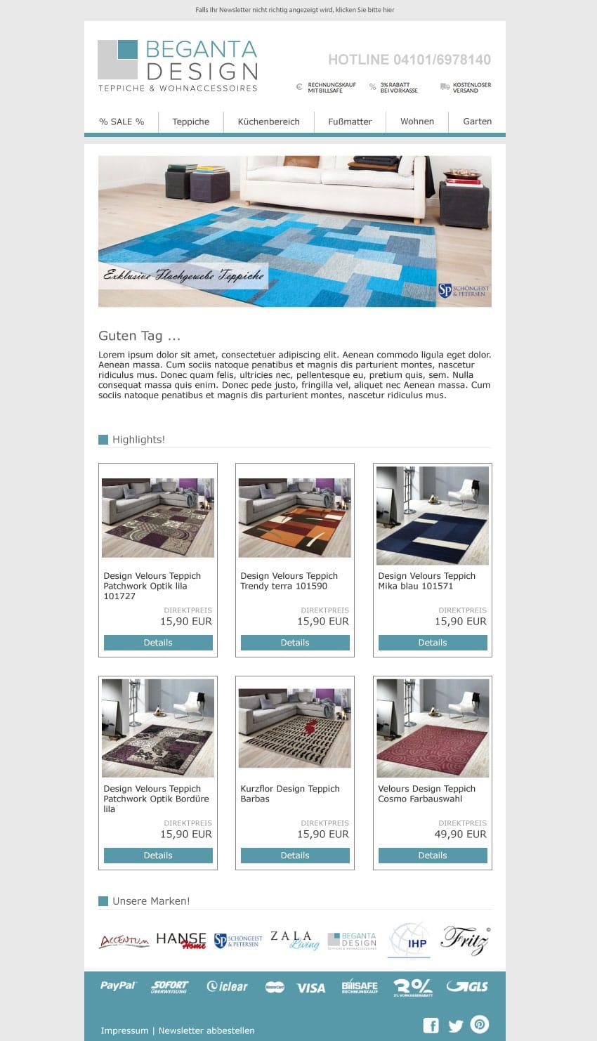 Begeta Newsletter Desktop Version
