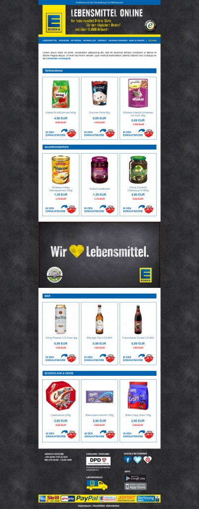 Edeka Newsletter Desktop Version
