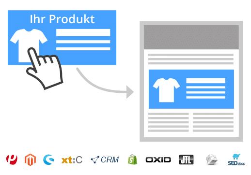 1-Klick-Produktübernahme im Newsletter Tool