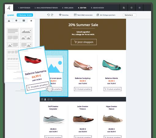 Newsletter Software - 1 Klick Produktübernahme