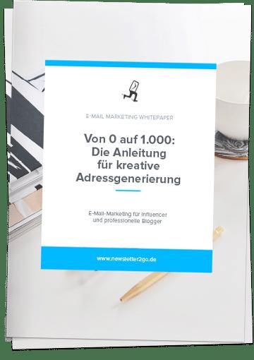 Adressgenerierung - Newsletter2Go