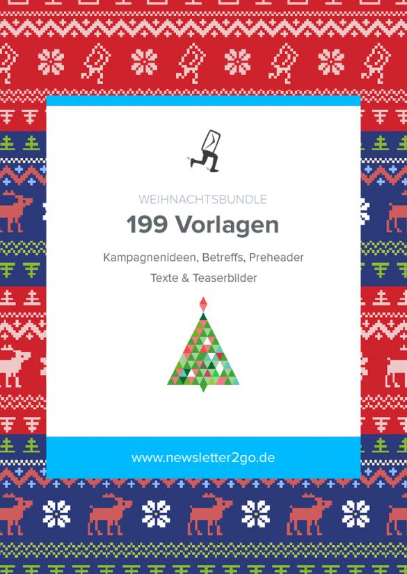 Weihnachtsbundle mit 199 Vorlagen für erfolgreiche Newsletter zur Weihnachtszeit von Newsletter2Go