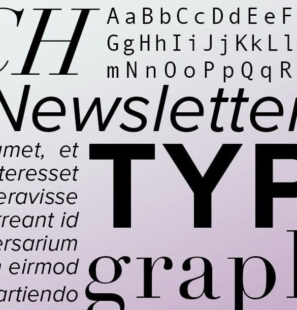 Newsletter-Schriftarten